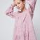 Ярусное платье для девочек, цвет темно-розовый
