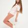 трикотажные брюки для девочек, цвет коричневый