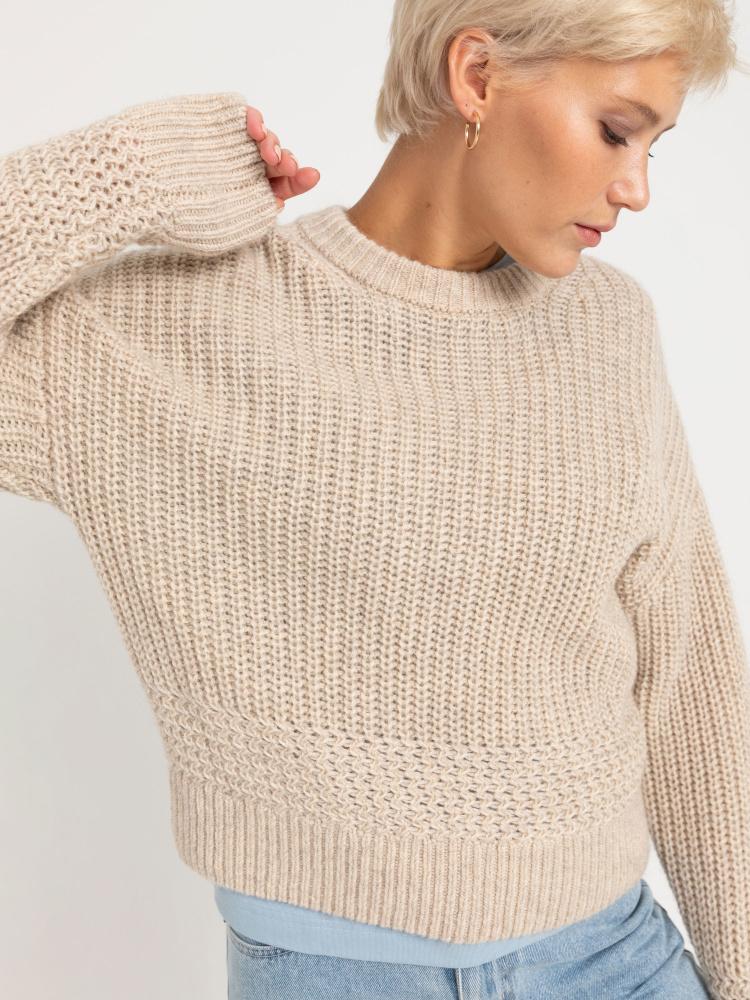 Джемпер женский цвет: бежевый меланж, артикул: 0809020681 - купить в интернет-магазине SELA