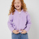 Флисовый джемпер для девочек, цвет сиреневый