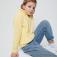 Флисовый джемпер для девочек, цвет желтый