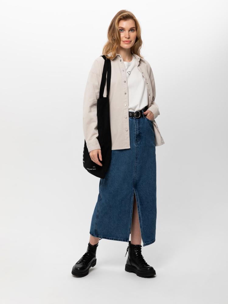 Юбка джинсовая женская цвет: голубой индиго, артикул: 0809011998 - купить в интернет-магазине SELA