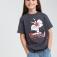 Футболка для девочек с принтом Looney Tunes, цвет темно-серый