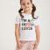 футболка с вышивкой из пайеток для девочек, цвет белый принт графика