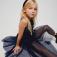 Платье с пайетками для девочек, цвет темно-синий