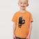 Футболка с принтом для мальчиков, цвет темно-бежевый/песочный