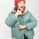 куртка для девочек, цвет бирюзовый