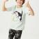 Футболка с принтом Tom & Jerry для мальчиков, цвет светло-зеленый