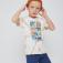 Футболка с принтом тай-дай для мальчиков, цвет бежевый принт
