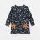 Трикотажное платье с принтом для девочек, цвет мультиколор