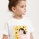футболка с принтом для девочек, цвет белый