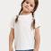 базовая футболка для девочек, цвет белый