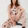 Трикотажная пижама с принтом, цвет чайная роза