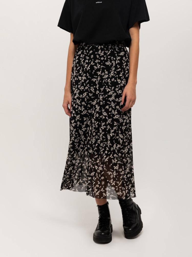 Юбка женская цвет: черно-белый принт, артикул: 0810011906 - купить в интернет-магазине SELA