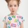 трикотажное платье с принтом для девочек, цвет светло-розовый