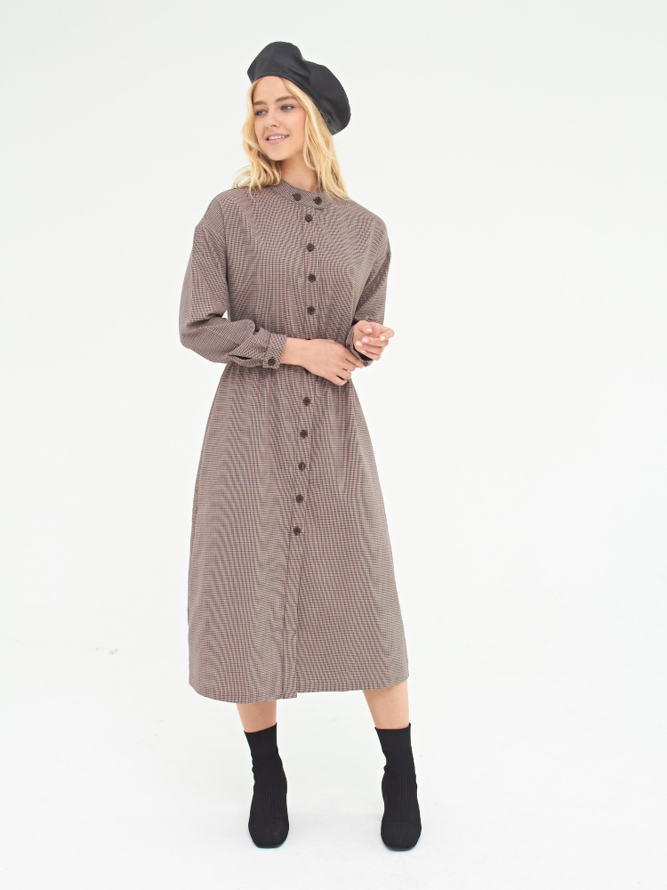 Платье цвет: карамельный, артикул: D-117/1285-9423 - купить в интернет-магазине SELA