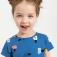 трикотажное платье с принтом для девочек, цвет синий