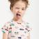 трикотажное платье с принтом для девочек, цвет цвет пудры