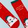 Носки для девочек в подарочной упаковке, цвет красный