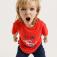 Футболка с интерактивным принтом для мальчиков, цвет красный
