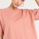 Оверсайз футболка с карманом, цвет темно-розовый