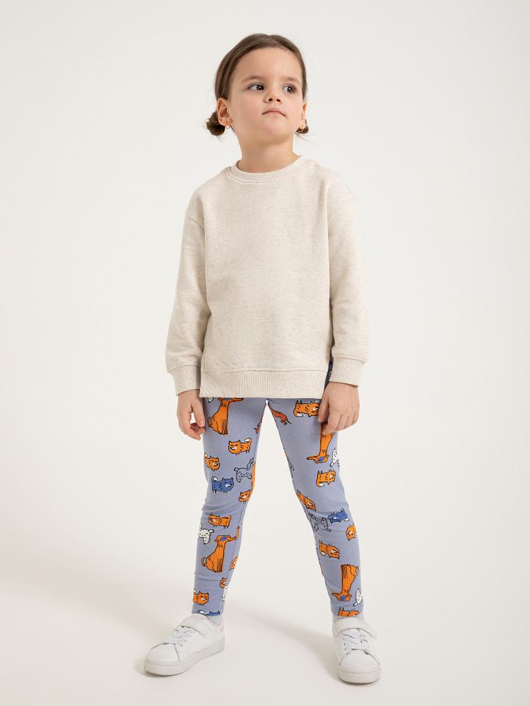 Леггинсы для девочек цвет: синий принт, артикул: 0802041804 - купить в интернет-магазине SELA