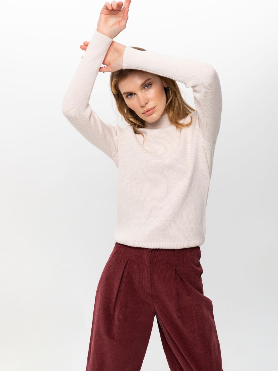 Джемпер женский цвет: кремовый/светлый беж, артикул: 0810010615 - купить в интернет-магазине sela