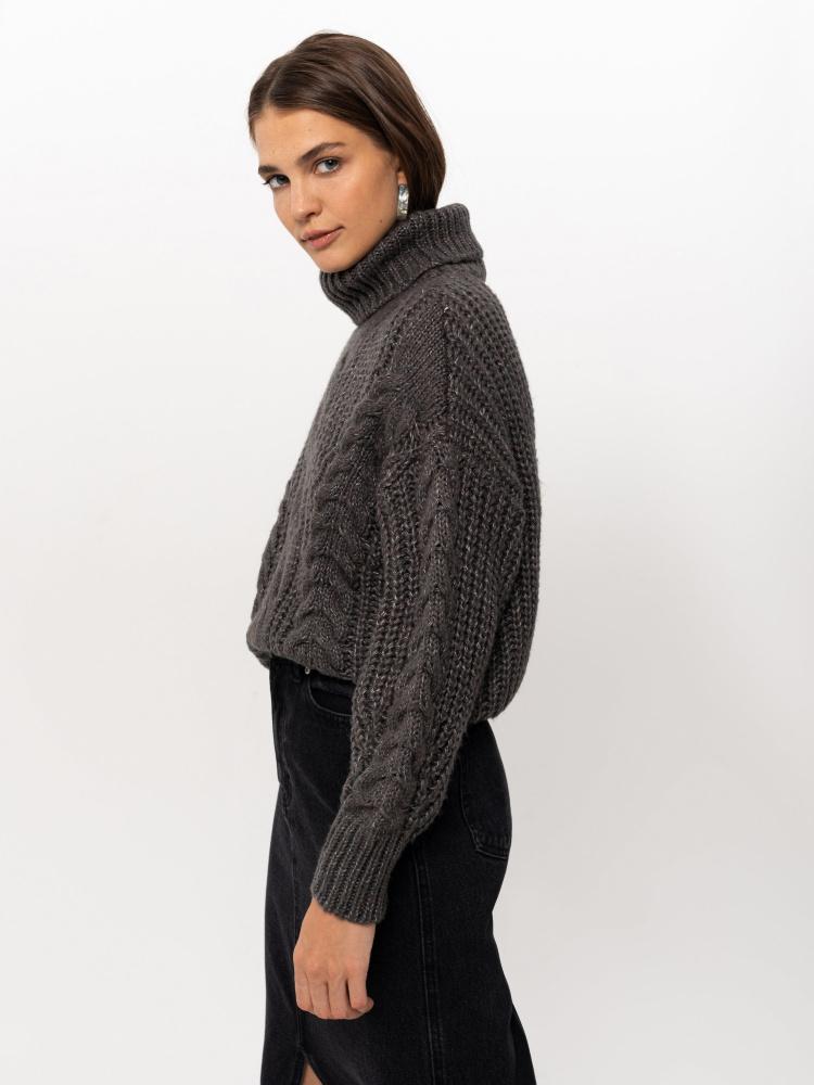 Свитер женский цвет: темно-серый, артикул: 08110106840 - купить в интернет-магазине SELA