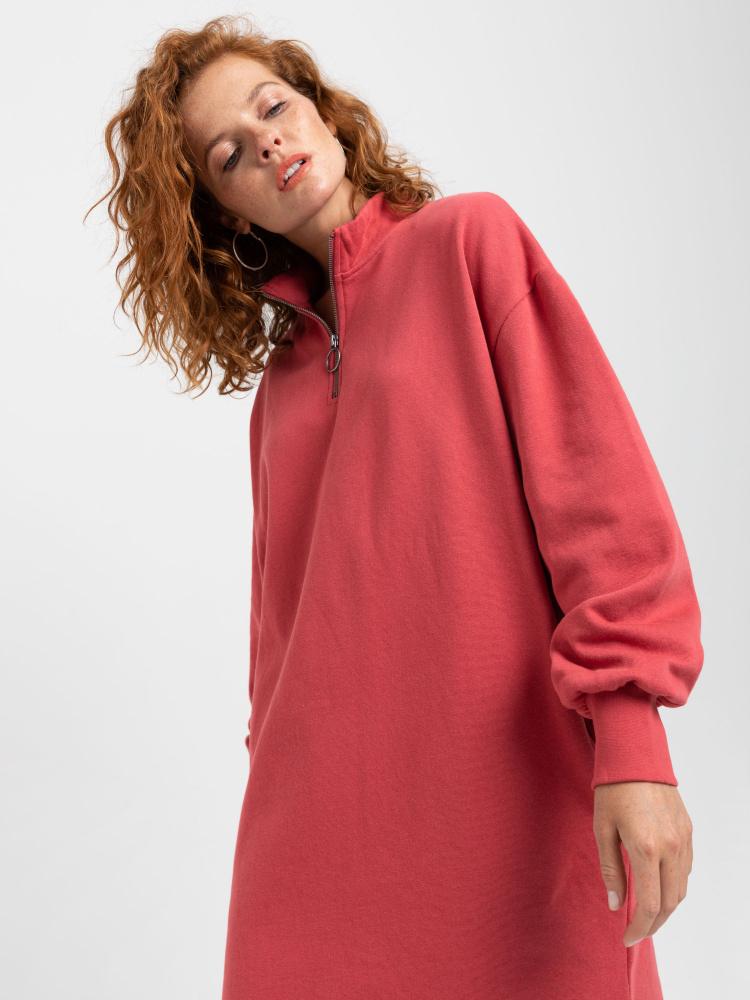 Платье-свитшот цвет: малиновый, артикул: 0808010749 - купить в интернет-магазине SELA