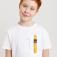 футболка с накладным карманом для мальчиков, цвет белый