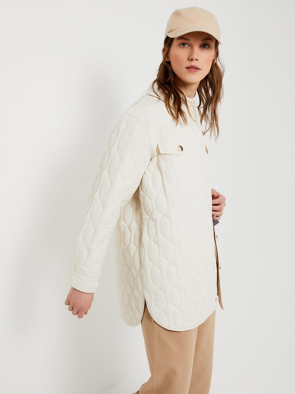 Стеганая рубашка женская на синтепоне купить ткань бархат для штор