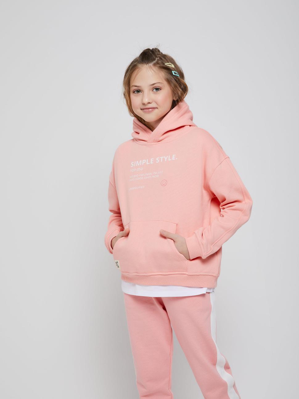 Джемпер для девочек цвет: оранжевый, артикул: 18020504310 - купить в интернет-магазине sela