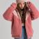 Куртка из искусственного меха для девочек, цвет темно-розовый