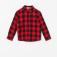 Рубашка в клетку для мальчиков, цвет красный