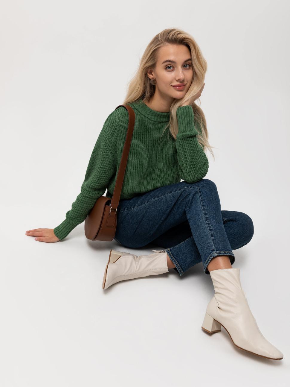 Джемпер женский цвет: зеленый, артикул: 0809010606 - купить в интернет-магазине sela