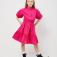 Платье с воротником для девочек, цвет фуксия