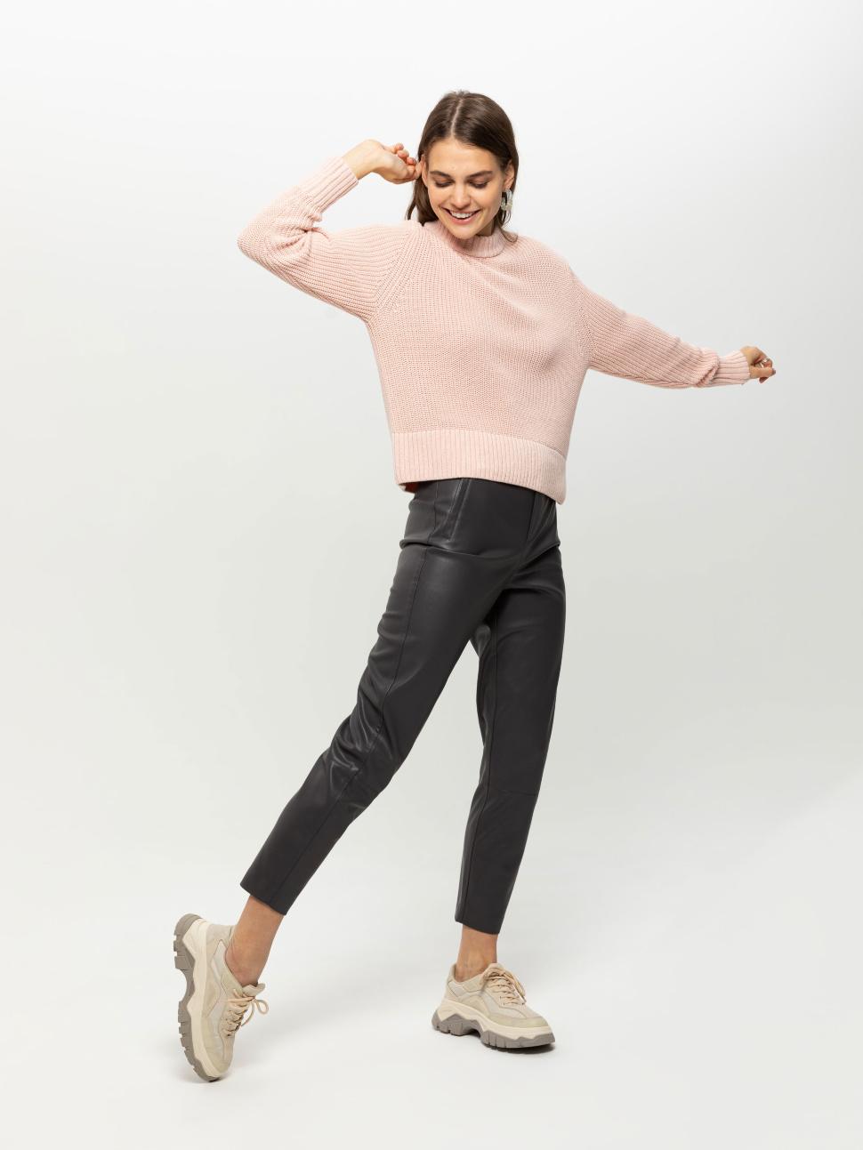Джемпер женский цвет: светло-розовый, артикул: 0809010606 - купить в интернет-магазине sela
