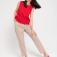 Блузка с вышивкой ришелье, цвет красный