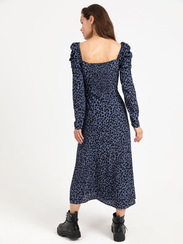 Ярусное Платье С Пышными Рукавами